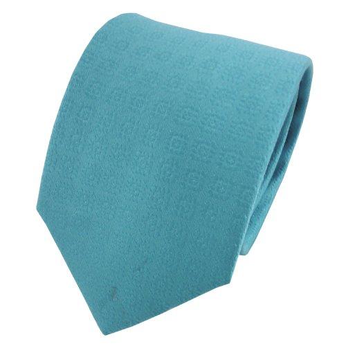 TigerTie diseñador corbata de seda de raso - turquesa azul turquesa modelada