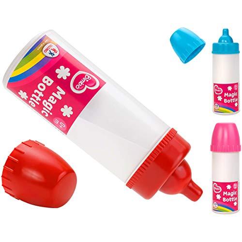 Bimbo 8014966381471 magische fles, rood/roze/blauw, 14,5 cm