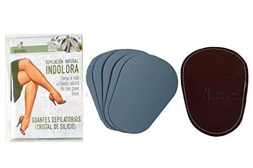 Decolores, depilación natural e indolora corporal, ideal para el cuidado de la piel. Incluye 5 discos corporales de recambios de mineral de silicio. Depilador corporal con 5 laminas en color Burdeos