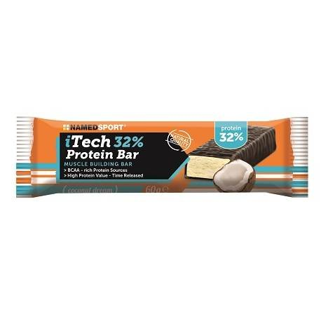 NAMEDSPORT ITECH 32% PROTEIN BAR BOX DA 24 BARRETTE DA 60G (GUSTO: COCONUT DREAM)