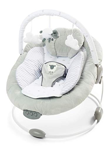 Soft Padded Baby Little Lamb Bouncer Recliner with Soothing Music Vibration and Toys 0m+ (077)