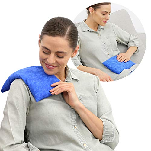 Nature Creation Microwave Heating Pad   Portable Heating Pack for Cramps, Arthritis, Joints Pain, Soring Muscles & Aching Feet   Reusable Microwave Hot Pack for Pain and Stress Relief (Blue Marble)