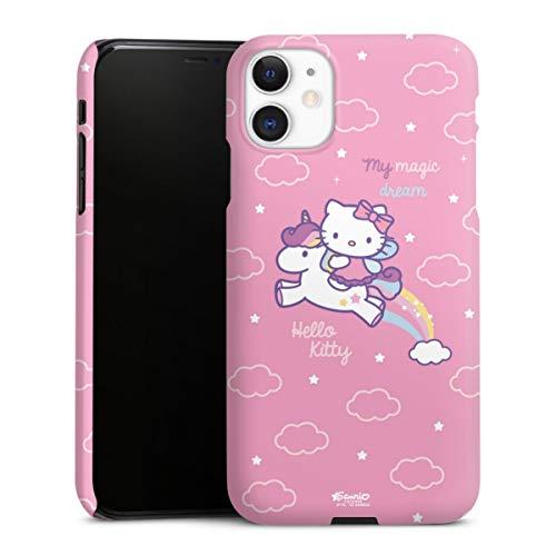 DeinDesign Premium Hülle kompatibel mit Apple iPhone 11 Smartphone Handyhülle Hülle matt Hello Kitty Offizielles Lizenzprodukt Einhorn