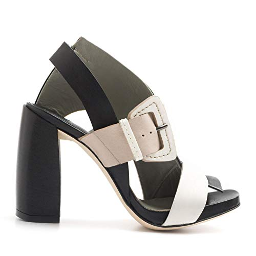 IXOS - High Heel Sandal in Multicolor Leather - X18E45110DUMBO Nero - 37
