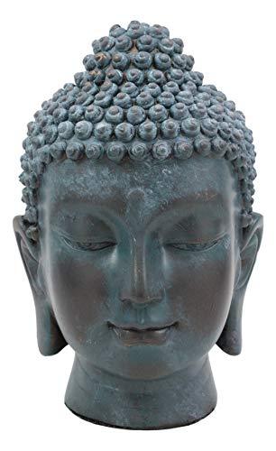 Ebros Shakyamuni Buddha Gautama Ushnisha Head Statue 6.5' Tall Amitabha Celestial Buddhism Bodhisattva Figurine Feng Shui Zen Altar Decoration (Aged Bronze Verdigris)