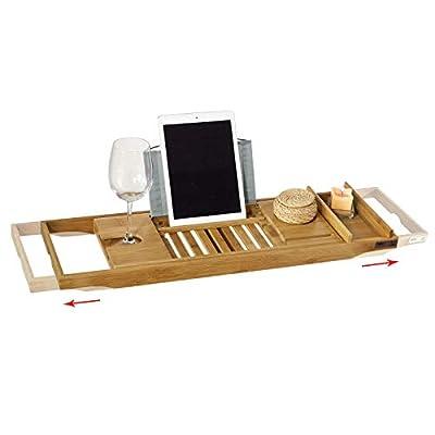 SoBuy® FRG207-N Badewannenablage Bambus