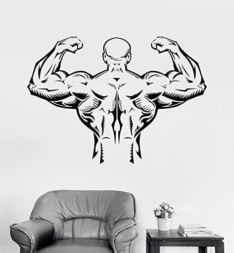 Aplique de músculo de espalda perfecto para fitness y culturismo,gimnasio,decoración elegante,papel tapiz,adhesivo de pared A8 80x57cm
