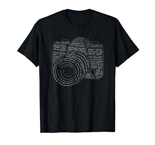Regalo para fotógrafos. Diseño de cámara de fotos motivación Camiseta