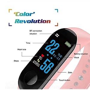 ACHICOO M3 Smartband Fitness Tracker Smart Pulsera Blutdruck Pulsmesser estanco Smart Band