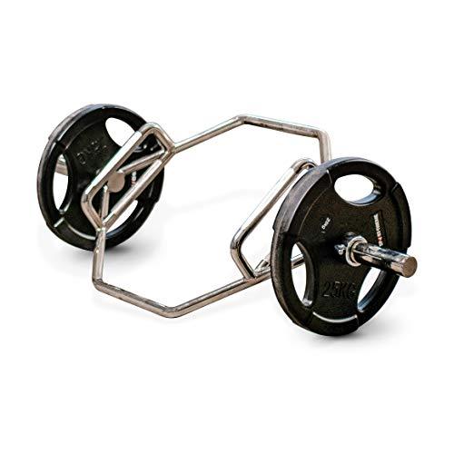 Sport-Thieme Hex Bar 50 mm   Deadlift Hantelstange   Trap Bar für Kreuzheben   50 mm   Aus hochwertigem Stahl   Mit gerädelter Grifffläche   Markenqualität
