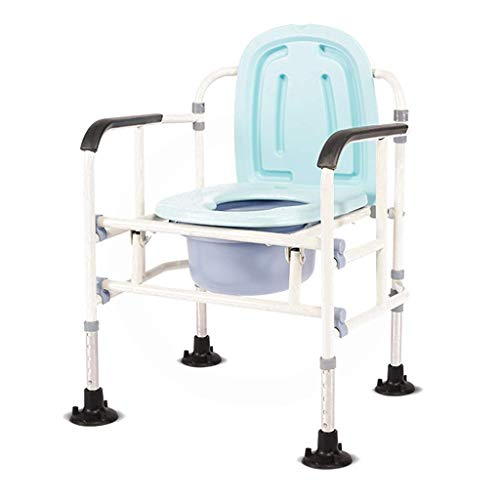 Home Commode Chair Toilet Chairshower Chair Folding Bariatric Toilet Seat Space Saving with Non Slip Leg Pad Handles and Bucket