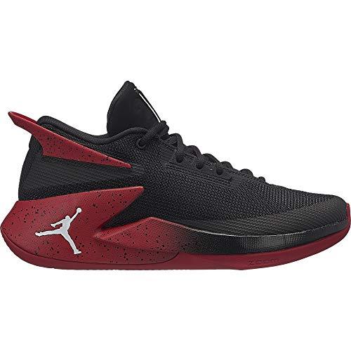 Nike Jordan Fly Lockdown, Zapatos de Baloncesto Hombre, Negro (Black/White-Gym Red 023), 46 EU