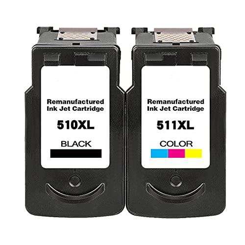 RICR 510 511 Cartuchos De Tinta para PG510 CL511 Reemplazo, Compatible para Canon MP240 MP250 MP260 MP270 MP480 MP492 MX320 MX330 Impresora BK+C