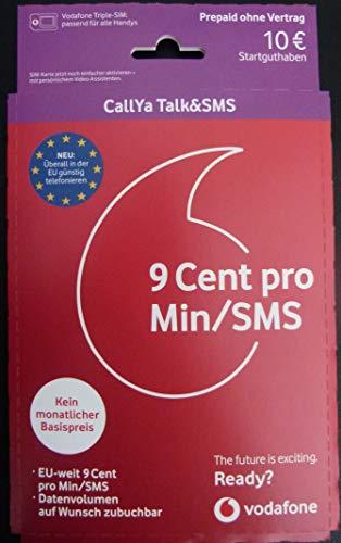 Vodafone Callya Talk und SMS + 10 Startguthaben 002700636/9800865
