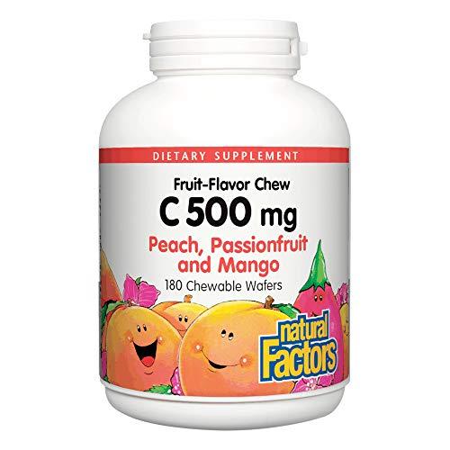 C 500 mg, melocotón, maracuyá y mango Sabor - Factores Naturales