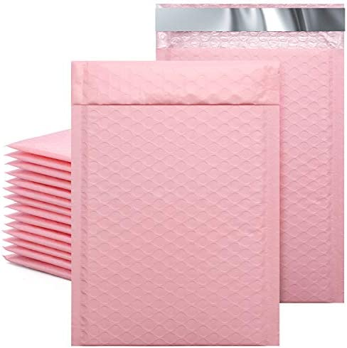 Metronic 25Pcs Poly Bubble Mailers 6X10 Inch Padded Envelopes Bulk 0 Bubble Lined Wrap Polymailer product image