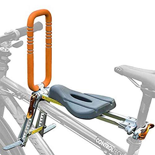 WAJJ kinderfietszitje voor kinderen, draagbaar, opvouwbaar en ultralicht, montage vooraan, fietsendrager voor mountainbike, hybride fietsen