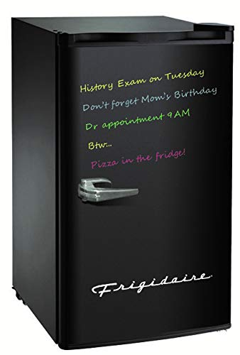 FRIGIDAIRE EFR331-BLACK 3.2 Cu ft Eraser Board Mini Compact Dorm Fridge (Black)