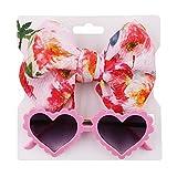 Y-POWER 2 piezas de accesorios para fotografía recién nacida gafas de sol+diadema set bebé bebé bebé bebé foto banda pelo gafas