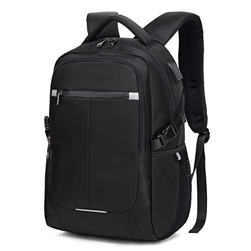 Laptop Rucksack Herren Business Rucksäcke 15.6 Zoll Anti-Diebstahl Schulrucksack mit USB Ladeanschluss, Wasserdicht Reiserucksack Backpack Rucksack Daypack für Schule Arbeit Reise (Black)