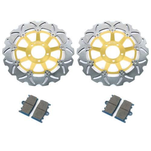 TARAZON vorne Bremsscheiben+Beläge für Suzuki GSXR 600 97-03 GSX-R 750 00-03 K1 K2 K3