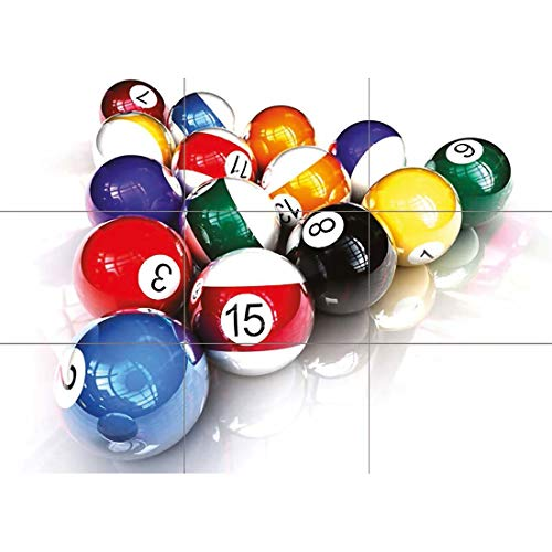 POOL BALLS BILLIARDS TABLE SNOOKER GIANT POSTER PLAKAT DRUCK X787