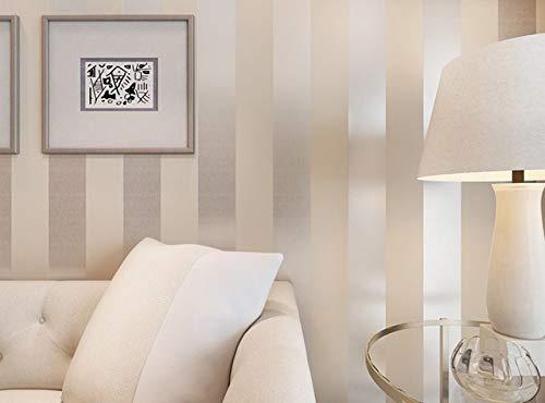 jidan Hohe Qualität Non-Woven-Beflockung gestreiften Tapeten Moderne Einfache Schlafzimmer Wohnzimmer Sofa TV Hintergrund Wand-Papier for Wände Rollen