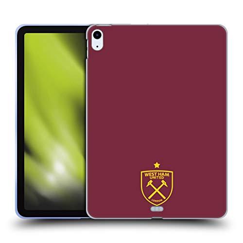 Official West Ham United FC Logo Crest Graphics Soft Gel Case Compatible for Apple iPad Air (2020)