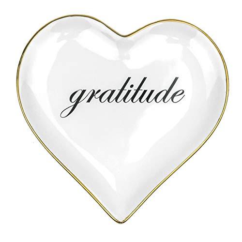 E THE PEOPLE'S EMPORIA Dankeschön-Schale für Schmuck, Dankeschön, Geschenke für Freundin, Freundschaft, beste Freundin, Dankbarkeitsgeschenke für Frauen, Lehrer, Chef, Schmuckschale, Ringhalter (weiß)