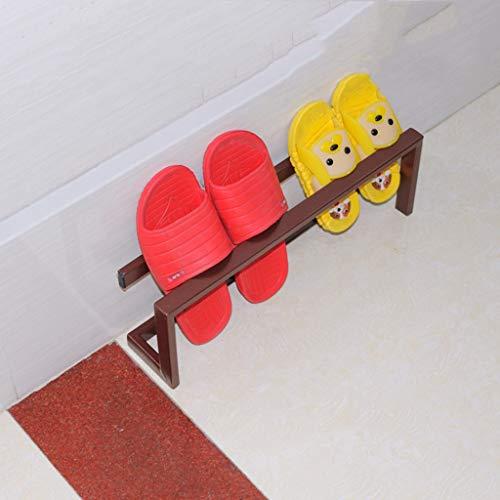 Yxsd shoe rack, Estante pequeño simple y moderno, simple de múltiples capas, economía para el hogar, baño, mini zapatillas. Color : bronce, tamaño: 45 x 9 x 15 cm