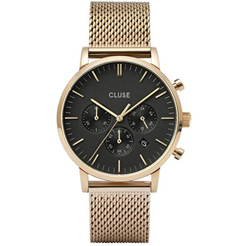 Cluse Herren-Uhren Analog Quarz One Size Gold 32010373