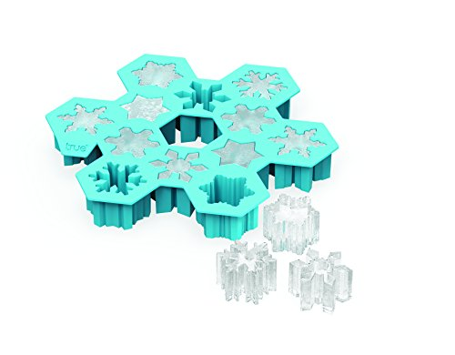 TrueZoo Snowflake Silicone Mold and Ice Cube Tray