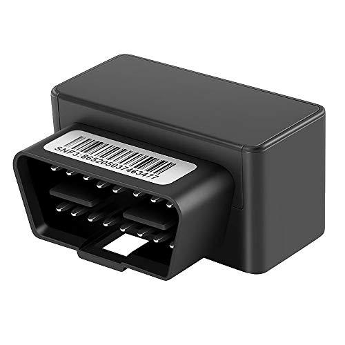 Sonline Rastreador GPS OBD Rastreador de Coches Monitor de Voz de Seguimiento en Tiempo Real Localizador GPS App de Alarma de Choque y DesconexióN Negro