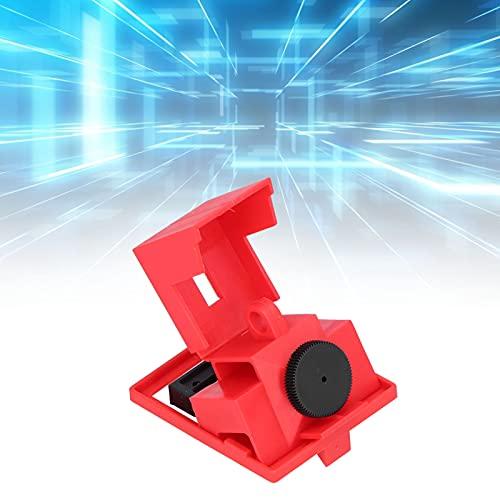 Kit de bloqueo de interruptor de un solo polo, bloqueo de interruptor de abrazadera de superficie lisa Amplia gama de usos para manijas pequeñas de 42 mm para electricidad industrial