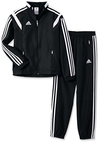 adidas - Fußball-Trainingsanzüge für Mädchen in Black/White, Größe 152