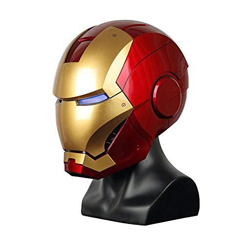 ZOULYD COS Casco De Halloween Props 1: 1 Armor Wearable Casco Marvel Iron Man Casco Electrónico Avengers: Endgame Iron Man Máscara Casco Multi-Colored-OneSize