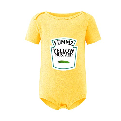 culbutomind Yummz Tomate Ketchup Amarillo Mostaza Rojo y Amarillo Body Bebé Niño Gemelos Ropa de Bebé Gemelos Bebé Niños Niñas