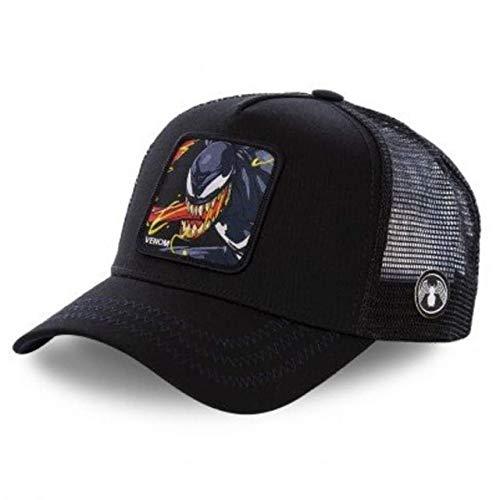 Nueva Gorra de bisbol de algodn Snapback para Hombres y Mujeres, Gorra de Camionero de Hip Hop para pap-Venom Black