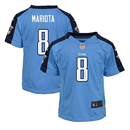 Nike Marcus Mariota Tennessee Titans NFL Girls Youth Light Blue Alt Game Jersey