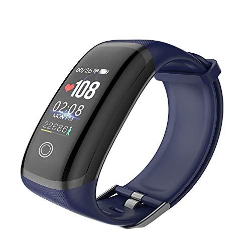 HYLK Pantalla a Color Pulsera Inteligente Frecuencia cardíaca Continua Presión Arterial Monitoreo de la Salud Paso Podómetro Monitor de frecuencia cardíaca Pulsera Bluetooth Impermeable