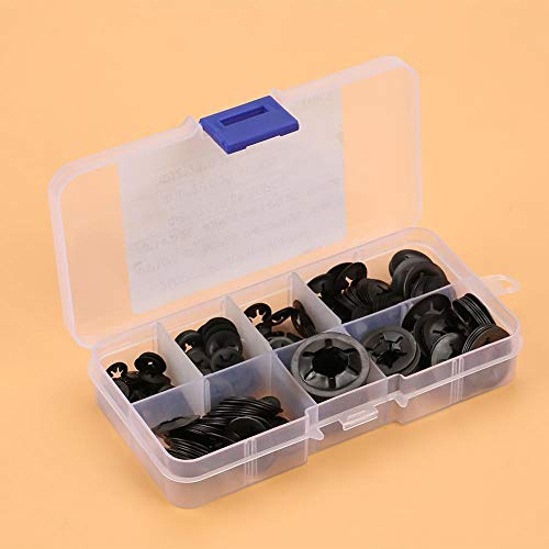 Lock Washer-260pcs Manganese Steel Push On Washer Retaining Lock Washers Set 3/4/5/6/8/10/12mm