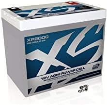 XS Power XP2000 XP Series 12V 2000 Amp AGM  Supplemental Battery with M6 Terminal Bolt
