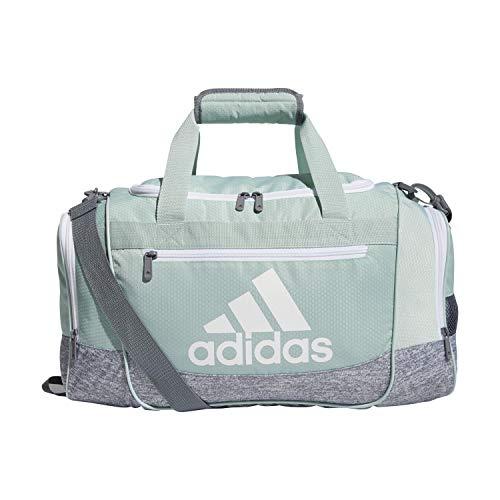 adidas Unisex-Erwachsene 5150754 Defender III, Kleiner Seesack, Grün/Grau/Weiß/Grau, OSFA