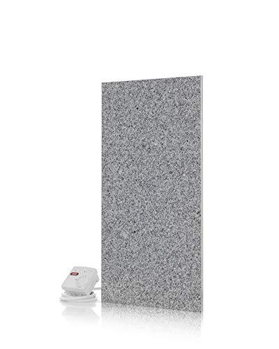Magma® Naturstein-Infrarotheizung Granit 400 - Deutscher Hersteller seit 1992 - Magmaheizung mit 10 Jahren Garantie (Granit Grau/Weiß)