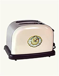 Victorian Trading Co Vintage Style Electric Toaster Cream Stainless Steel Roses