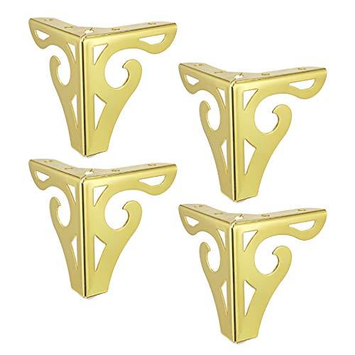 B Blesiya 4 Piezas Pata de Sofá de Hierro Pies de Muebles Sillón Armario Colores Diferentes para Elecciones - Dorado 12cm