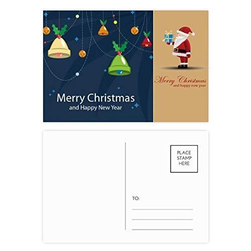 Kerst Bell Vrolijk Kerstfeest Kerstman ansichtkaart Set Thanks Card Mailing 20 stks
