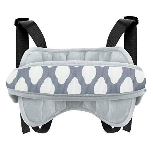 Lamavido Baby Car Seat Head Support Band Protection Neck Relief for Toddler Baby Kids Carseat Straps Covers (Gray)
