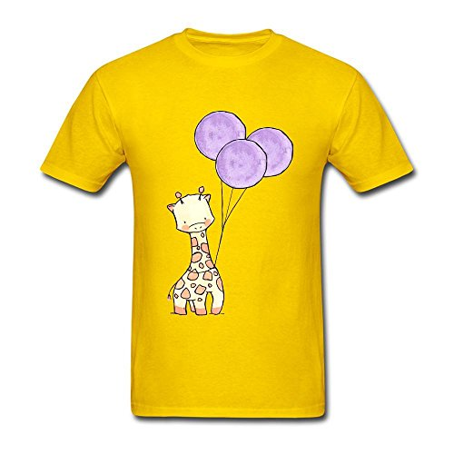 Veblen Hombres del jirafa cartoon diseño algodón T Shirt
