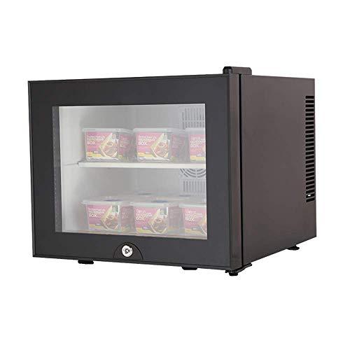 Camera d albergo Frigorifero Vetrina refrigerata per Alimenti 20 Litri Grande capacità Portatile per Auto Mini congelatore per Uso Domestico - Nero Bianco